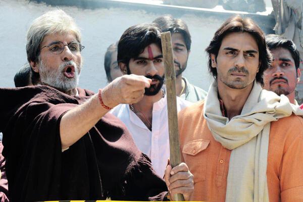 Amitabh Bachchan and Arjun Rampal in Satyagraha