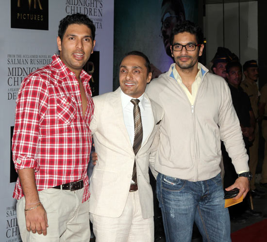 Yuvraj Singh, Rahul Bose and Angad Bedi