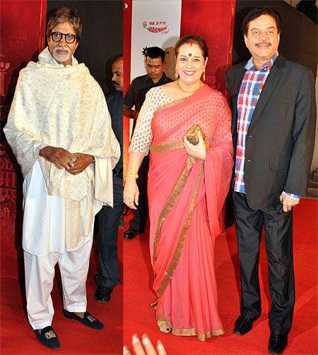 Amitabh Bachchan, Shatrughan and Poonam Sinha