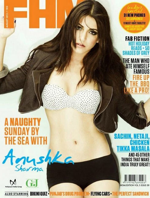 Anushka Sharma on FHM Cover