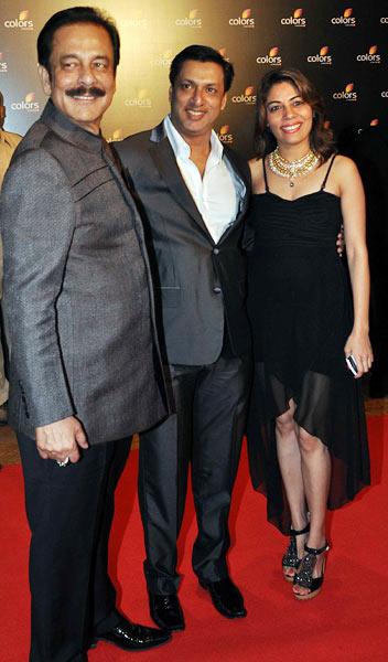 Subrata Roy, Madhur and Renu Bhandarkar
