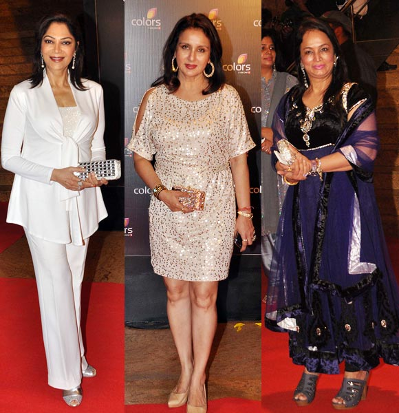 Simi Garewal, Poonam Dhillon and Smita Thackeray
