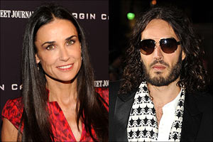 Demi Moore and Russell Brand