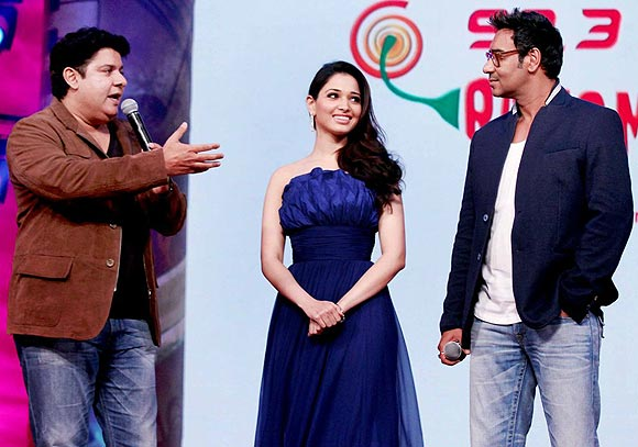 Sajid Khan, Tamannaah and Ajay Devgn