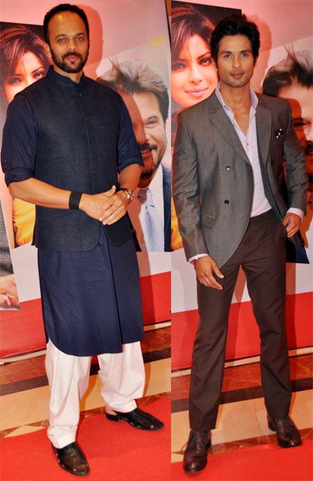 Rohit Shetty and Shahid Kapoor