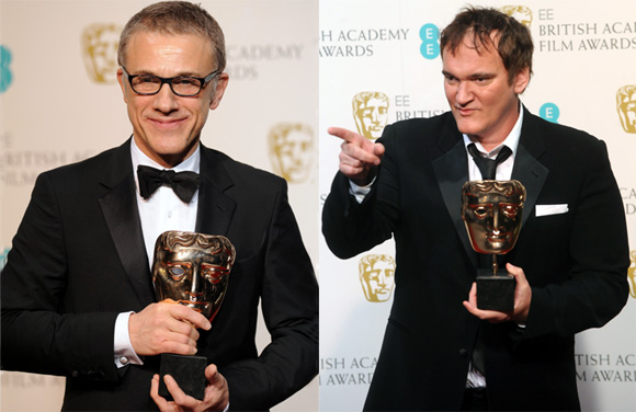 Christoph Waltz and Quentin Tarantino