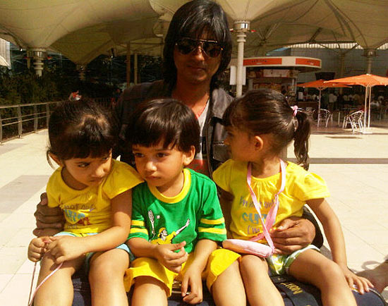 Shirish Kunder with Czar, Diva and Anya