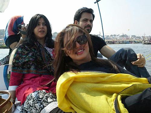 Ekta Kapoor, Emraan Hashmi and Huma Qureshi