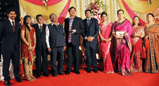 Anjan Shrivastav, Shatrughan Sinha, Abhishek Srivastav, Soumya, Poonam Sinha and Madhu Srivastav