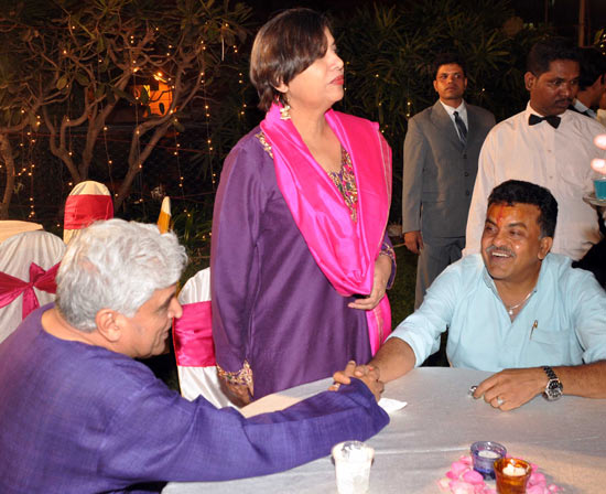 Javed Akhtar, Shabana Azmi and Sanjay Nirupam