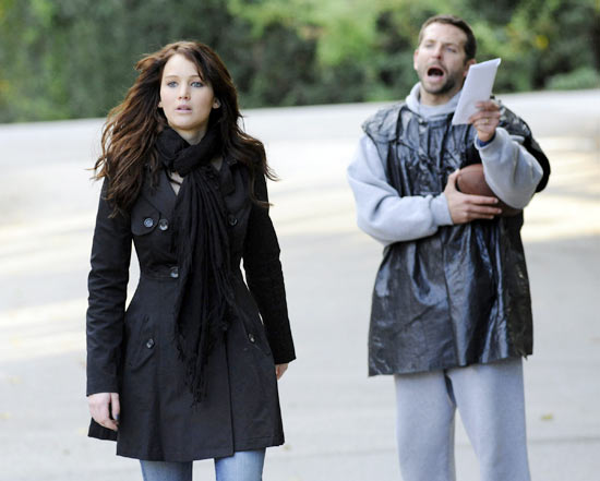 Jennifer Lawrence with Bradley Cooper in Silver Linings Playbook
