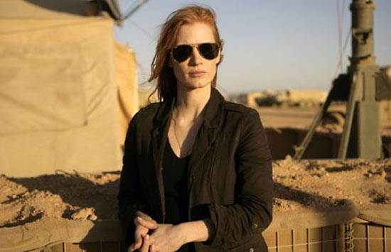 Jessica Chastain as Maya in Zero Dark Thirty