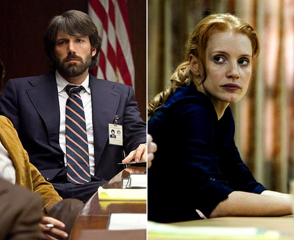 Scenes from Argo and Zero Dark Thirty