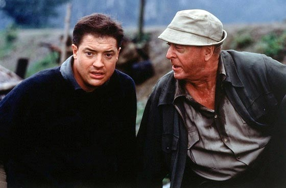 Brendan Fraser and Michael Caine in The Quiet American