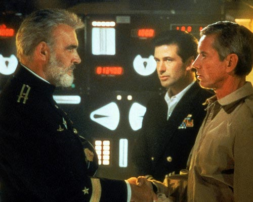 Sean Connery, Alec Baldwin and Scott Glenn in The Hunt for Red October