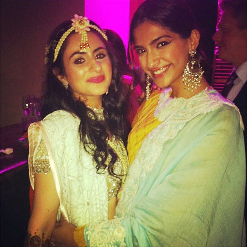 Sonam Kapoor with a friend