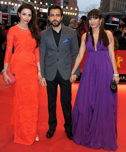 Emraan Hashmi with Prashita Chaudhary, Emraan Hashmi and Parveen Shahani