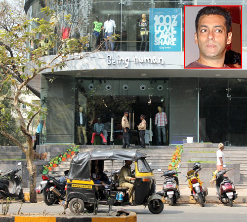 Being Human flagship store in Santa Cruz. Inset: Salman Khan
