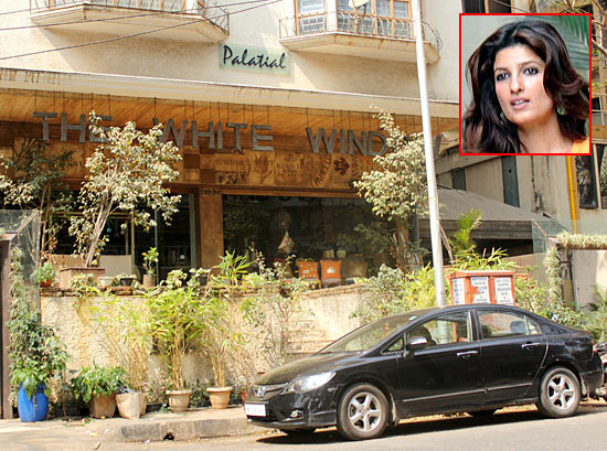 The White Window in Bandra. Inset: Twinkle Khanna