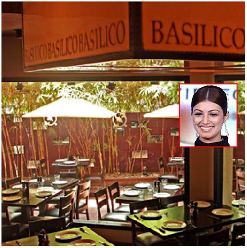 Cafe Basilico in Bandra. Inset: Ayesha Takia