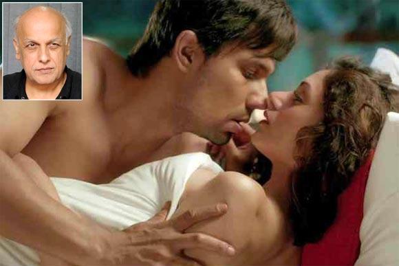 A scene from Murder-3. Inset: Mahesh Bhatt