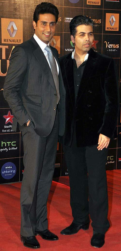 Abhishek Bachchan and Karan Johar