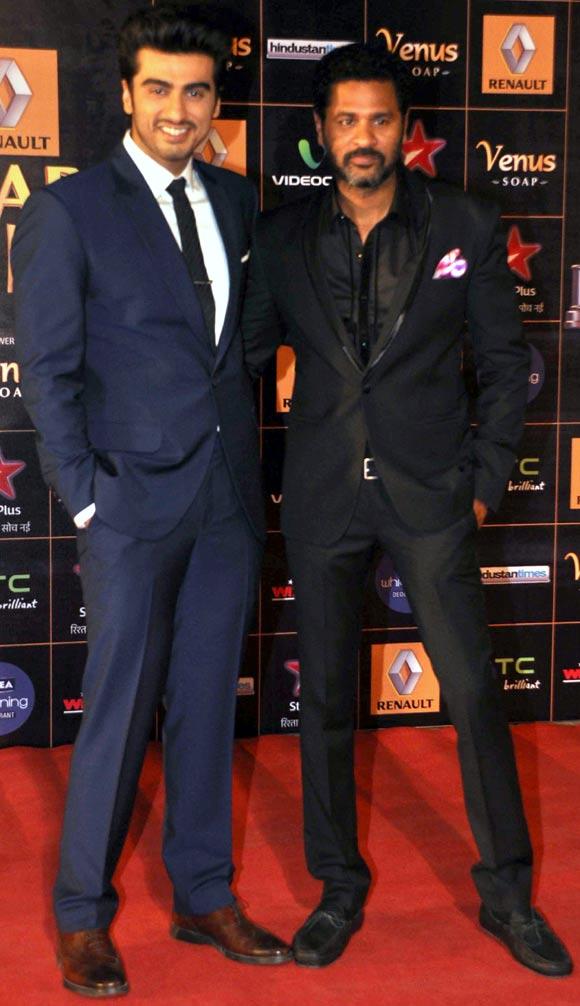 Arjun Kapoor and Prabhu Deva