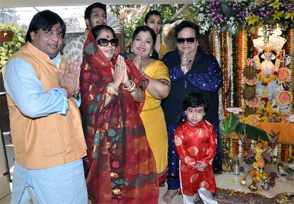 Bappi Lahiri with family