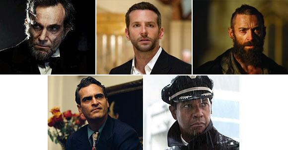 Daniel Day-Lewis, Bradley Cooper, Hugh Jackman, Joaquin Phoenix, Denzel Washington