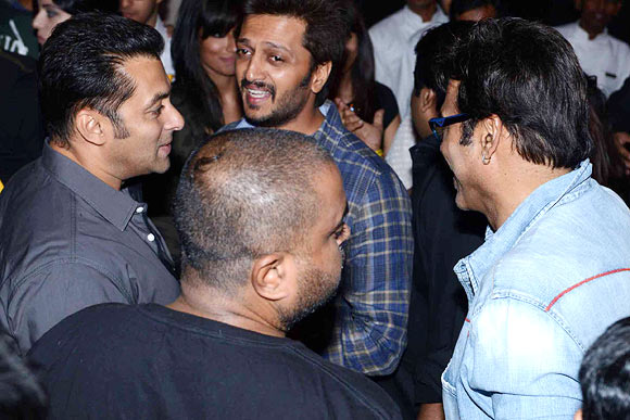 Salman Khan, Riteish Deshmukh and Venkatesh