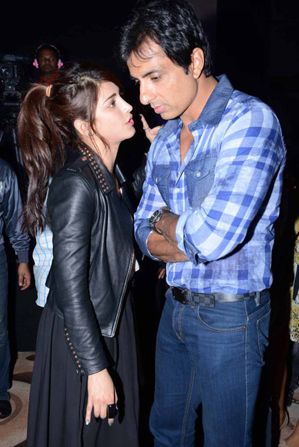 Shruti Hassan and Sonu Sood
