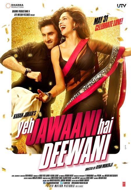 Movie poster of Yeh Jawaani Hai Deewani