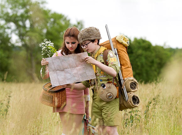 A scene from Moonrise Kingdom