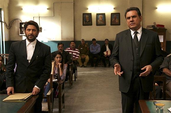 Arshad Warsi and Boman Irani in Jolly LLB