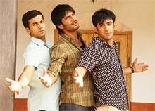 Raj Kumar Yadav, Sushant Singh Rajput and Amit Sadh in Kai Po Che