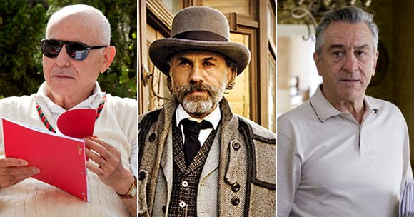 Alan Arkin in Argo, Christopher Waltz in Django Unchained, Robert De Niro in Silver Linings Playbook