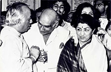 Yash Chopra and Lata Mangeshkar