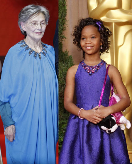 Emmanuelle Riva and Quvenzhane Wallis