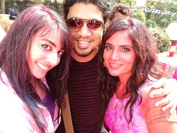 VJ Bani and Richa Chadda with a friend