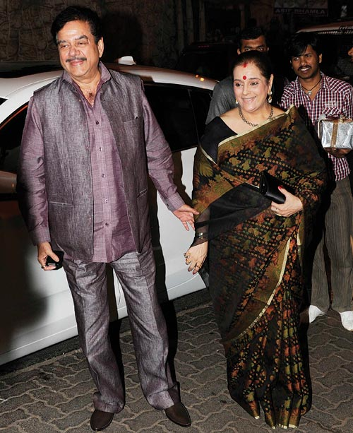Shatughan and Poonam Sinha