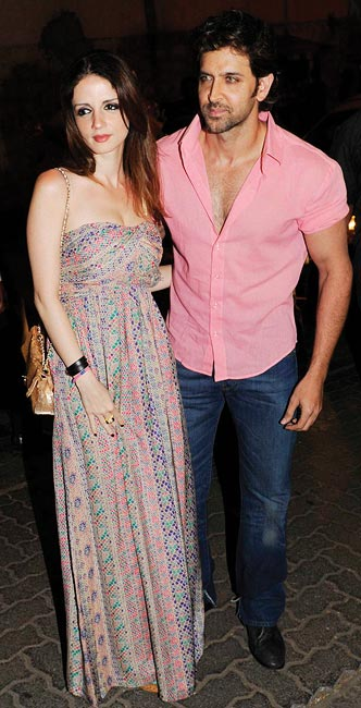 Sussane and Hrithik Roshan