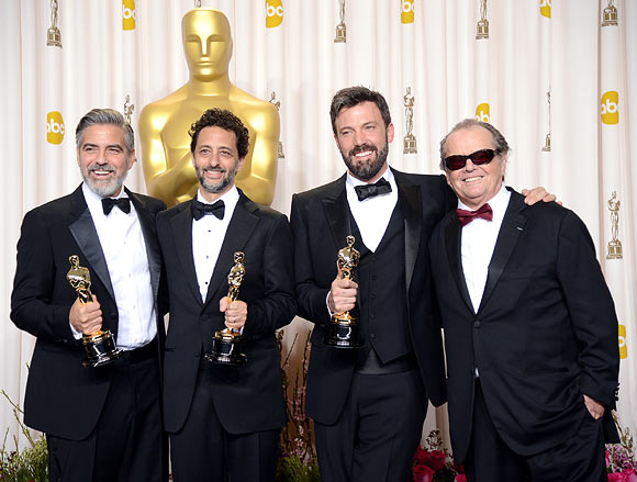 Producers George Clooney and Grant Heslov along with  Ben Affleck and Jack Nicholson