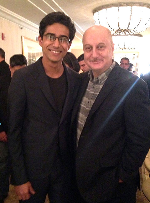 Suraj Sharma and Anupam Kher