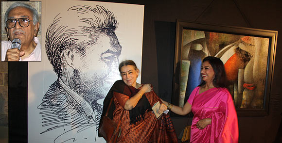 Lalita Lajmi and Anuradha Patel. Inset: Ameen Sayani
