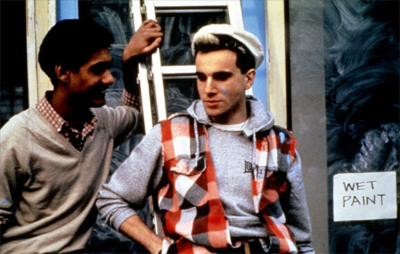 Daniel Day-Lewis (right) in My Beautiful Laundrette