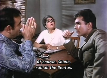 Rajendranath, Shammi and Rajesh Khanna in The Train