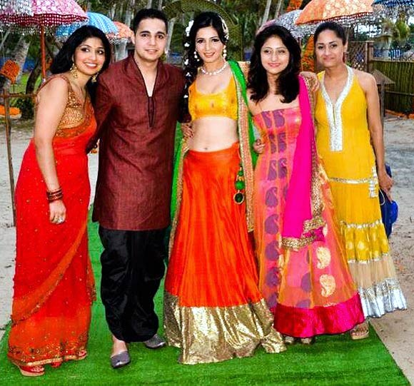 Shonali Nagrani with siblings