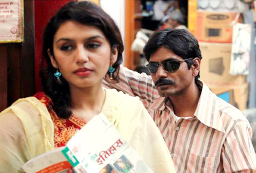 Huma Qureshi and Nawazuddin Siddiqui in Gangs Of Wasseypur