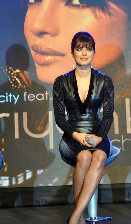 Priyanka Chopra at the launch of her first single In My City