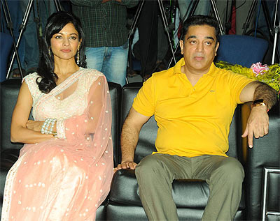 Pooja Kumar and Kamal Hassan